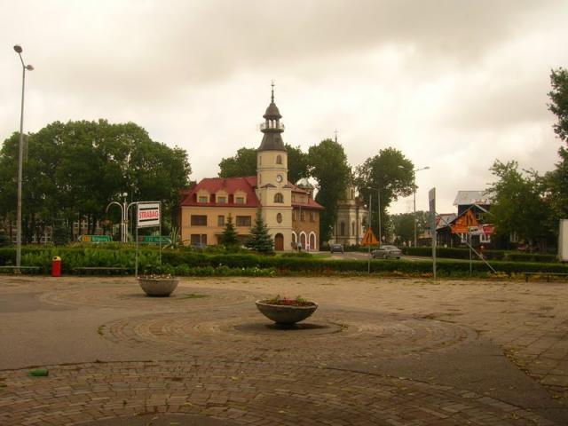 Rynek w Tomaszowie.