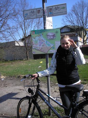 Początek niebieskiej i zieolnej trasy do Puszczy Kampinoskiej, autor: rogal111