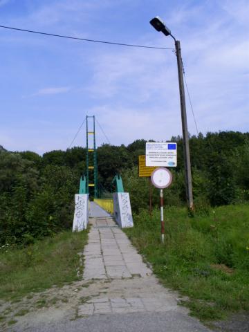 Most przez Poprad - MojRower.pl