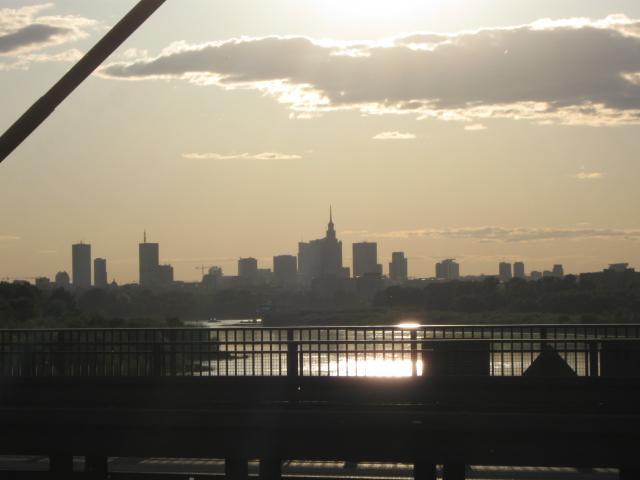 Widok na miasto z mostu Siekierkowskiego, autor: studek