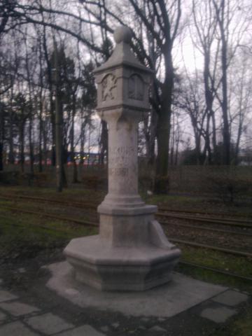 Wrocław - zabytkowy słup graniczny, autor: wiesiek