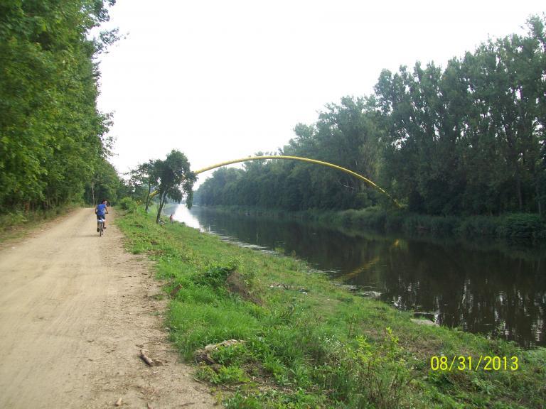 kanałem Żerańskim nad Zegrze - MojRower.pl