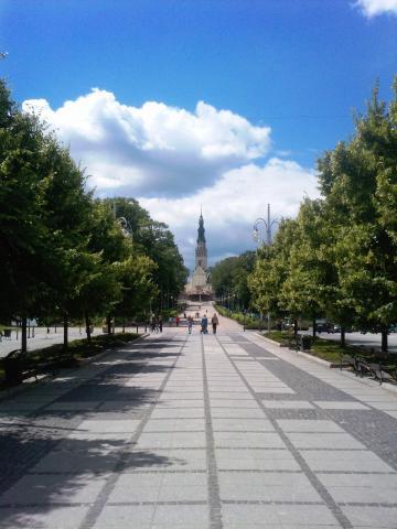 Widok z Aleji NMP na Jasną Górę, autor: jagajazzist