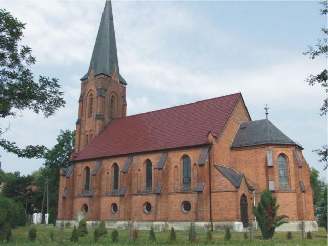 KOŚCIÓŁ PAR. P. W. ŚW. MICHAŁA ARCHANIOŁA w Karłowicach, ul. Kościelna. Wzmiankowany w 1500 r, od 1534 w posiadaniu ewangelików. Obecny zbudowany jako ewangelicki u schyłku XIX w. w  stylu neogotyckim,  w miejscu kościoła poprzedniego o konstrukcji szkiel - MojRower.pl