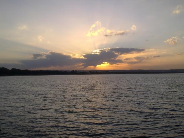 Zachód słońca, autor: trigo