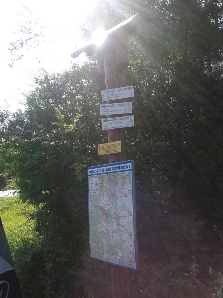 Wjazd na niebieski szlak rowerowy - MojRower.pl